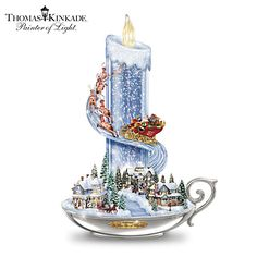Shop great selection of rare Thomas Kinkade gifts and collectibles at The Bradford Exchange. We have Exclusive collection of art of Thomas Kinkade featuring on Limited Edition collectibles, Paintings, Home Decor and more. Thomas Kinkade Christmas, Noel Christmas, Christmas Candles, Victorian Christmas, Vintage Christmas Cards, Xmas, Christmas Table Centerpieces, Christmas Decorations, Centerpiece Ideas