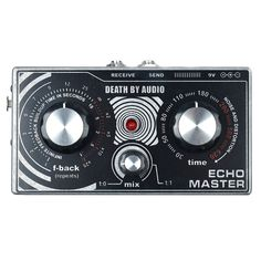 "Death By Audio Echo Master Vocal Delay The pedal comes with integrated XLR input and output jacks, control for Feedback, Mix and Delay Time. There's also a 1/4"" FX loop to integrate with virtually any"