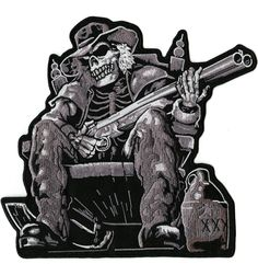Iron on Embroidered Skull Outlaw Anarchy Moonshine Skeleton MC Biker Patch Motorcycle Patches, Biker Patches, Iron On Patches, Motorcycle Jacket, Leather Jacket Patches, Biker Leather, Shotgun, Bald Eagle, American Flag
