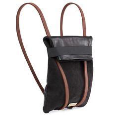 Maria Maleta portugal portuguese handmade backpack fashion black leather…