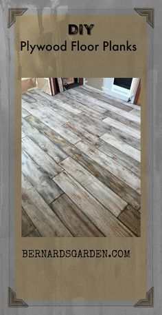 """Made from 8"""" plywood boards, painted sanded and stained. #DIY #plywood #floor Staining Plywood, Stained Plywood Floors, Plywood Flooring Diy, Plywood Board, Painted Wood Floors, Plank Flooring, Hardwood Floors, Diy Home Improvement, Tiny Living"""