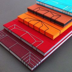 beautiful Japanese bookbinding by gazelle.parizad Tehran based graphic designer | bookbinder