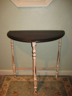 Distressed Antique Side Table From Early   I Have This Same Table In  Original Finish, Little More Decorative Turnings.