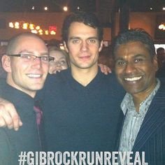 Anil R. He and his friend Matthew snapped this picture with Henry at the Vancouver, Man of Steel wrap party in January 2012.
