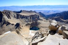 A photographic guide to hiking Mt Whitney, explaining all of the features you will pass with pictures. Check it out.