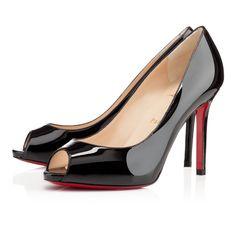 Chaussure Louboutin Pas Cher Pompes Flo Vernis 100mm Noir 10 #redbottomshoes