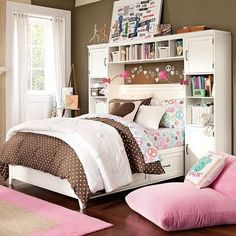 love the headboard-dresser
