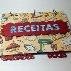 Sua mãe merece ganhar um livro de receitas! #livrodereceitas #fichario #diadasmaes #andreascrapecia #papel #scrapbook