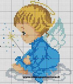 Cross Stitch Angels, Cross Stitch For Kids, Beaded Cross Stitch, Cross Stitch Baby, Cross Stitch Charts, Cross Stitch Designs, Cross Stitch Embroidery, Cross Stitch Patterns, Canvas Patterns