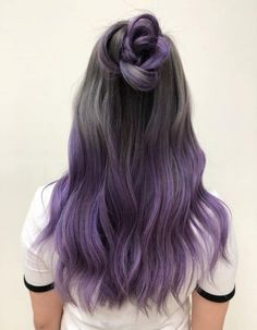 purple dip dye hair - hair styling- lila Dip Dye Haare – Haarstyling purple dip dye hair – hair styling check more at - Dyed Hair Purple, Dyed Hair Pastel, Dye My Hair, Purple Dip Dye, Dip Dye Hair Brunette, Pastel Dip Dye, Purple Grey Hair, Dyed Hair Ombre, Purple Ombre Hair Short