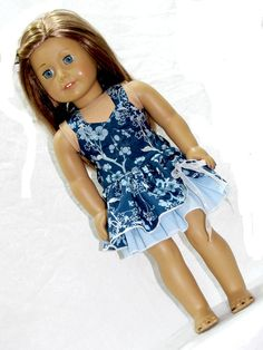 Doll and Me Matching Girl and 18 Inch Doll Flirty by AvannaGirl