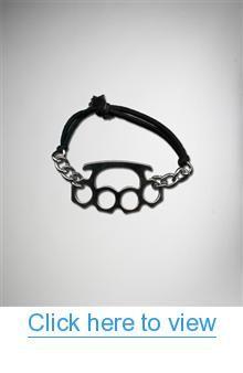 Silver Chain Brass Knuckle Elastic Bracelet #Silver #Chain #Brass #Knuckle #Elastic #Bracelet
