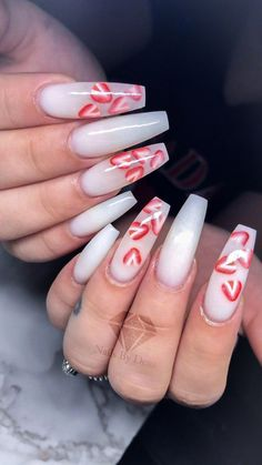 Milky nails / strawberry nails / fruit nails - Milky nails / strawberry nails / fruit nails Milky white nails with encapsulated strawberries 🍓 White Acrylic Nails, Best Acrylic Nails, Acrylic Nail Designs, Aycrlic Nails, Coffin Nails, Milky Nails, Nails Design With Rhinestones, White Nails With Design, Encapsulated Nails