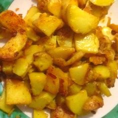 Fried Potatoes With Onions And Garlic