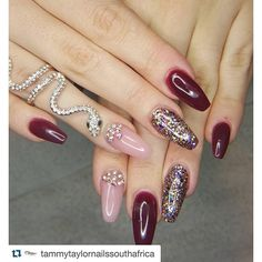 """#Repost @tammytaylornailssouthafrica with @repostapp. ・・・ Full Colour Acrylic Prizma Called """"BERRY WINE"""" with Medium dark Cover pink and a Tammy Taylor Custom mix of Prizma and 3 types of Dazzlerocks - ALL TAMMY TAYLOR NAILS PRODUCTS Done by Nicole - Inspired by Nicky Www.tammytaylornails.co.za @tammytaylornails @tqmmytaylornailssouthafrica Info@tammytaylorsouthafrica.co.za Distribution / Training / Conversions - See more at: http://iconosquare.com/viewer.php#/myPhotos/list"""