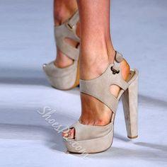 Shoespie Blue Platform Sandals