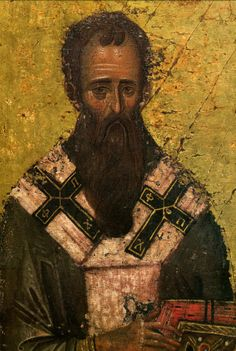 """If you see your neighbor in sin, don't look only at this, but also think about what he has done or does that is good, and infrequently trying this in general, while not partially judging, you will find that he is better than you."" – St. Basil the Great, Conversations, 20  ----------------------------------------------------------- Fragment of the XIV century icon The Three Holy Hierarchs, Vatopedi monastery, Mount Athos, Greece"