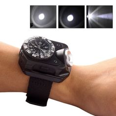 COOL Rechargeable T6 LED Wrist Watch Flashlight Torch Waterproof Light Charge  | eBay