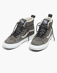 bd5a9835fa50 Madewell x Vans® Unisex Old Skool Lace-Up Sneakers in Flannel and Sherpa