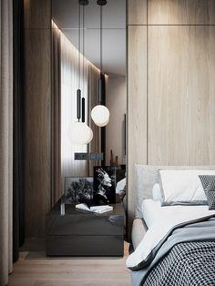 APARTMENT IN MOSCOW - Dezign Ark (Beta) Home Bedroom, Modern Bedroom, Bedroom Decor, Luxury Rooms, Luxurious Bedrooms, Monochrome Bedroom, Awesome Bedrooms, Apartment Interior, Home Interior Design