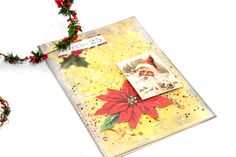I often have bits of cardstock lying around that have ink on them, with those I have created a beautiful Embossing Paste Christmas Card, in 6 easy steps. Card Stock, Past, Christmas Cards, Ink, Create, Beautiful, Christmas E Cards, Past Tense, Paper Board