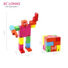 3D Robot Transformer Puzzle Magic Cube  Creative Phone Holder DIY Wooden Puzzle Adult Puzzle Cool Toy Boy Birthday Gifts