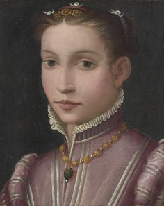 Lot | Sotheby's Florentine school, 16th century.  Necklace is really lovely