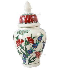 Çini Vazo 20cm Tile Design, Ceramic Art, Diy And Crafts, Vase, Ceramics, Tiles, Models, Home Decor, Slipcovers