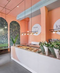 coffee shop innovation ideas 29 – Home Decor Restaurant Interior Design, Shop Interior Design, Retail Design, Florist Shop Interior, Bakery Shop Interior, Bakery Design, Cafe Design, Commercial Design, Commercial Interiors