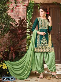 9c894cf609 Amazing Designer Queen Patiyala Suit In Green & Pistachio Color. Od'In  Paris Salwar Suit & Sarees · New Arrival Heavy Indian Salwar Kameez Anarkali  ...