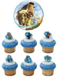 24 Ice Age Cupcake Rings with Ice Age Mylar Balloon - Ice Age Bundle by VTP, http://www.amazon.com/dp/B008CQOFJG/ref=cm_sw_r_pi_dp_CKaarb124Z3TB