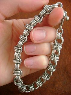 Blackmaille Barrel Roll Chainmaille Bracelet by xblackmaille, $28.00