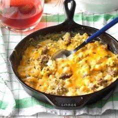 Sausage, Egg and Cheddar Farmer's Breakfast