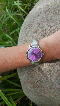 Adora Damenuhr violett - silber Druzy Ring, Dame, Rings, Jewelry, Clock, Silver, Jewlery, Bijoux, Schmuck