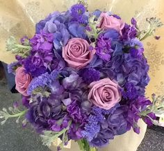 All shades of purple flowers for bridal bouquet Shades Of Purple, Purple Flowers, Special Events, Wedding Bouquets, Bridal, Design, Wedding Brooch Bouquets, Bridal Bouquets