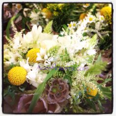Wild natural bridal bouquet
