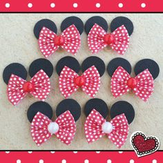 Ribbon Art, Pet Shop, Pet Clothes, How To Make Bows, Hair Bows, Hair Clips, Headbands, Minnie Mouse, Projects To Try