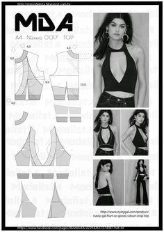 ModelistA ~ this actually could be layered over a light blouse for SummerMod@ en Line things sewing and Pattern making Fashion Sewing, Diy Fashion, Ideias Fashion, Diy Clothing, Sewing Clothes, Dress Sewing Patterns, Clothing Patterns, Costura Fashion, Diy Mode