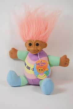 Easter Egg Troll  Doll with Russ Tags.
