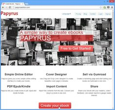 Easily Create, Design & Publish Your Own eBooks Online With Papyrus