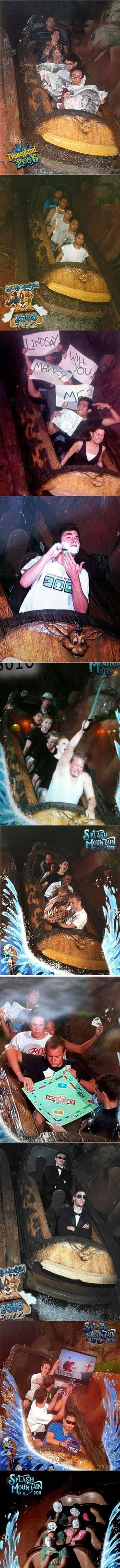 Best of Disneyland's Splash Mountain. I am inspired to do this next time!: