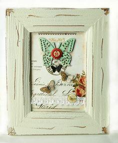 Lovin this DIY framed print using Pink Paislee!
