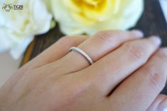Small Brilliant Round Cut Half Eternity Wedding by TigerGemstones