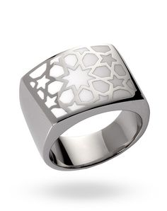 Stainless Steel White Lama Ring