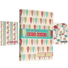 Bundle Of 3 Retro Flora Note Books