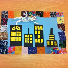 Space: Inspired by Faith Ringgold- Tar Beach - Grade (art teacher: v. Could make it of local area - take photo of child in flying pose. 3rd Grade Art Lesson, First Grade Art, Kindergarten Art, Preschool Art, Faith Ringgold Art, Collages, Ecole Art, School Art Projects, Art Lessons Elementary