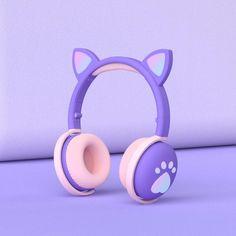 CAT EAR&PAW HEADPHONES™ - Lavender purple