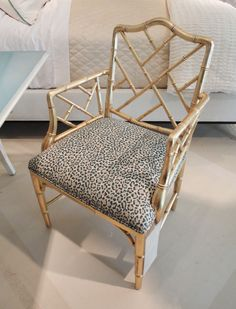 the perfect accent chair - gold + leopard print! would happily take this piece home from century.