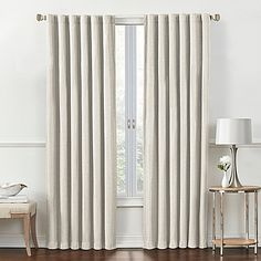 Rockwell 95 Inch Rod Pocket Back Tab Room Darkening Window Curtain Panel In