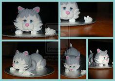 Mini Kitten Cake by JanJL.deviantart.com on @deviantART